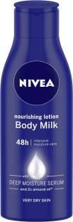 NIVEA Body Lotion for Very Dry Skin, Nourishing Body Milk with 2x Almond Oil, For Men & Women
