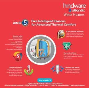 Hindware 25 L Storage Water Geyser (SWH 25A-2 M-2 / SWH 30 M / SWH 30 M PW, White, Ivory)