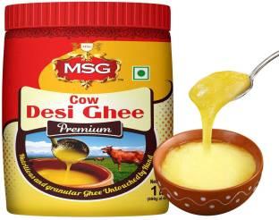 MSG Premium Cow Desi Ghee Ghee 1 L Mason Jar