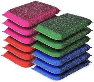 SKY VOGUE Best Scrub Sponge, Non-Scratch Scrubber Dishwasher Steel Scrub Sponge Dish Wash Sponge Multi-Use Heavy Duty Scrub for Dishwashing Long Lasting Kitchen Sponge for Hard Surface Tools. (Pack of 12). Scrub Sponge