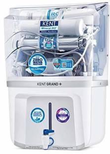 KENT GRAND PLUS ZWW 9 LTR MINERAL RO+UV+UF+TDS CONTROL+ UV LED IN TANK, (WHITE) 20LTR/HR 20 L RO + UV ...