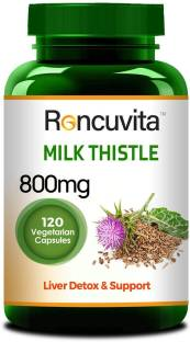 RONCUVITA Milk Thistle 800mg, 120 Vegetarian Capsule for Liver