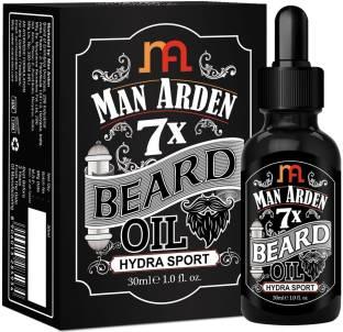 Man Arden 7X Beard Oil (Hydra Sport) 30ml, 7 Premium Oils Supports Beard Growth & Nourishment Hair Oil