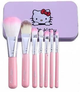 SKINPLUS Hello Kitty Soft Makeup Brush Set - Pink (7 Pcs)