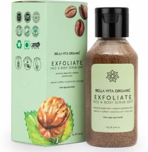Bella vita organic Coffee Face & Body Scrub For Skin Brightening De-Tan Ayurveda, Exfoliate Knees, Elbows, Face, Scalp, Arms Etc Scrub
