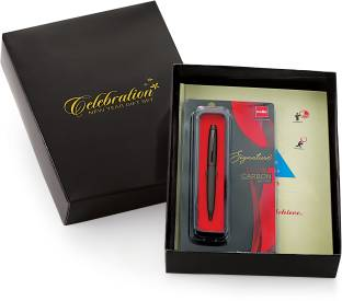 CELEBRATION 2021 Stay Motivated Diary Giftset with Cello Signature Carbon Ball Pen - B5 Diary Ruled 330 Pages