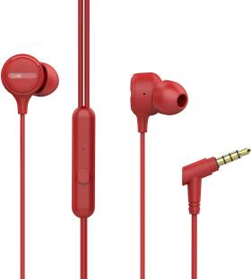 boAt Bassheads 103 Red Wired Headset