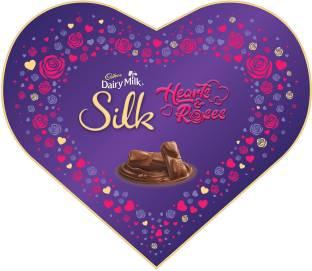 Cadbury Dairy Milk Silk Valentines Heart Shaped Gift Box, 324g Bars