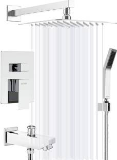 Alton EDG14135 Concealed Body High Flow Diverter Full Set with 8x8 Overhead, Bath Tub Spout, and Hand ...