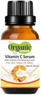 OrganicIndore Vitamin C Serum for face Capture Youth with Hyaluronic Acid and Vitamin E - 10ml - Brightening & Night Skin Repair (10 ml)