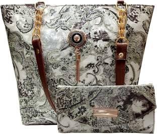 WILD MAPLE Women Grey Hand-held Bag