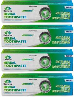 Jagat Devsutra Dr. Recommended Ayurvedic HERBAL Fresh Mint Flavour Toothpaste Combo Pack Offer - 100% Natural Teeth Whitening Formula with No Fluoride & No Artificial Colours Toothpaste