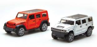 Toyshack Pull Back Die Cast Off 1:39 Road SUV with Rubber Wheels and Door Opening