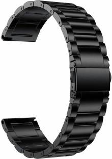gettechgo Premium Metal 22mm Replacement Strap Band Compatible for Galaxy Watch 3 45mm/Galaxy 46mm/Gear S3 Frontier,Classic/Amazfit Pace Stratos,Stratos+,Stratos3 /Huawei GT2 46mm/Honor Magic Watch 2 (46mm) & Smartwatch with 22mm Lugs Smart Watch Strap