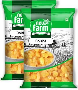 Neu.Farm Raisins/Kishmish - Indian - Premium Quality - Pack Of 2 Raisins