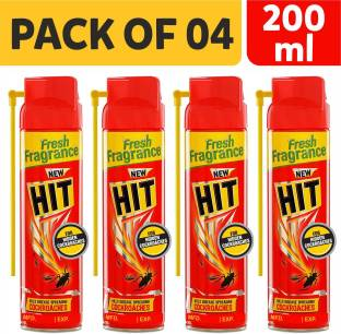 Hit Spray Crawling Insect Killer (200ml, Red) (Pack Of 04)