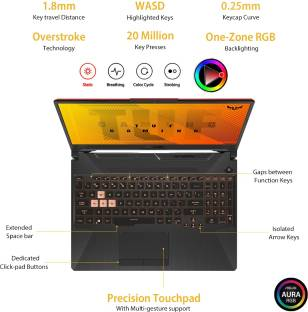 ASUS TUF Gaming F15 Core i5 10th Gen - (8 GB/512 GB SSD/Windows 10 Home/4 GB Graphics/NVIDIA GeForce G...