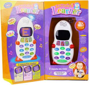Pluspoint Baby Phone Toy for 1 2 3 Year Old with Light, Music - Phone Toy for Baby Aptitude Learner To...