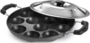 3D METRO SUPER STORE Non-Stick 12 Cavity Appam Patra with Stainless Steel Lid Standard Idli Maker