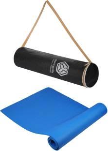Quick Shel 100%EVA Eco Friendly Mat, Exercise & Gym Mat With Bag Blue 6 mm Yoga Mat