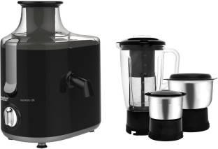 MAHARAJA WHITELINE Montero Dlx JX1-159 550 W Juicer Mixer Grinder (3 Jars, Black)