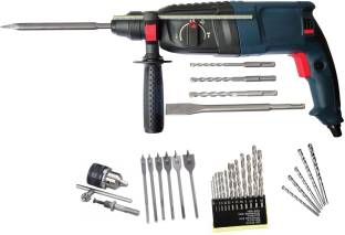Inditrust High Quality 26mm Electric Rotary Hammer Machine 900W with 5pc Hammer bit 6pc Flat wood 13pc...