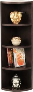 BLUEWUD Adora Engineered Wood Open Book Shelf