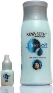 KEYA SETH AROMATHERAPY Clear Off Anti Pimple Face Pack with Herbs Extract-pH Balances, Makes Skin Smooth, Clear and Free of Spots and Marks