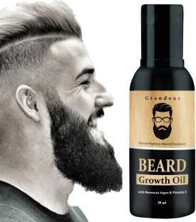 Grandeur Beard Growth Oil For Men For Thicker & Fuller Beard With Argan Oil & Vitamin E Hair Oil