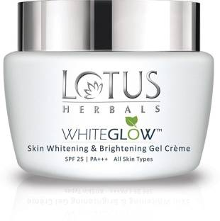 LOTUS HERBALS WhiteGlow Skin Whitening And Brightening Gel �Face Cream with SPF-25, for all skin types