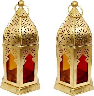 Designer International Gold Iron Hanging Lantern