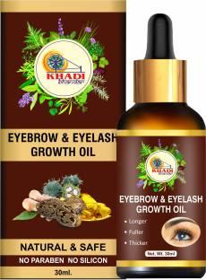 KHADI BHANDAR Eyebrow & Eyelash Growth Oil For Women - Strength with Pure Natural Ingredient 30 ml