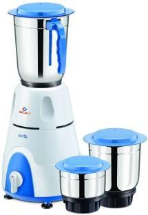 BAJAJ 410176 gx3 500 W Mixer Grinder (3 Jars, White)