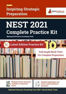 NEST (National Entrance Screening Test) 2021 10 Full length Mock Tests for Complete Preparation