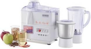 USHA JMG 3345 450 Juicer Mixer Grinder (2 Jars, White)