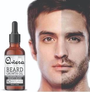 Qwera 100% Natural Beard Growth Oil Beard Hair Growth oil And Beard Hair Oil