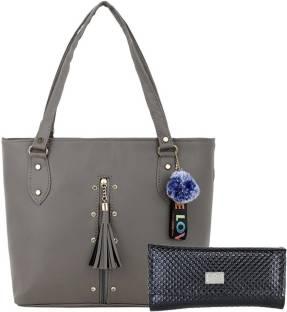 GD Fashion Women Grey Shoulder Bag