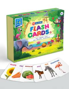 Target Publications Flash Cards for Kids | 96 Non Tearable and Water Resistant Cards | Domestic and Wild Animals, Fruits and Vegetable, Flowers and Birds | Kids Learning with Fun | 1 - 6 Years | Early Childhood Education