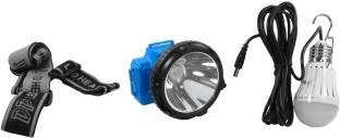 DP.LED 759B RECHARGEABLE HEAD LIGHT WITH Energy-saving Bulb (3W) Capacity Battery 3000mAh CHIP ELASTIC...
