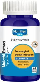 Nutrition Plus Mulethi Extract - For Cough and Throat - 60 Caps