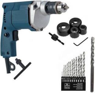 Tulsway Rx 10mm Electric Drill Machine With 13Hss Drill Bit +1 Masonary Drill Bit + 6Pcs Hole Saw Set ...