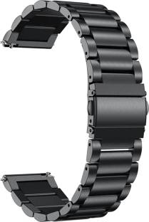 ACM Watch Strap Stainless Steel Metal 20mm Compatible with AMAZFITGts ( Smartwatch Belt Luxury Band Royal Black) WSM6S20BK1013N1 Smart Watch Strap