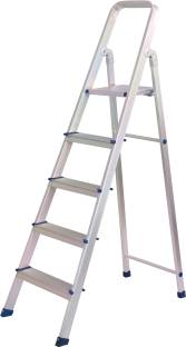RAFTTAR 5 Step Aluminium Ladder(Anodized) Aluminium Ladder Aluminium, Steel, FRP Ladder