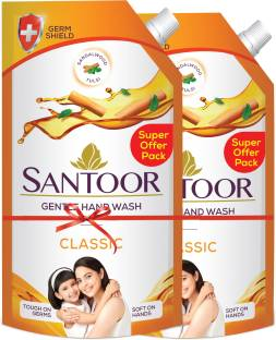 santoor Classic Hand Wash Pouch