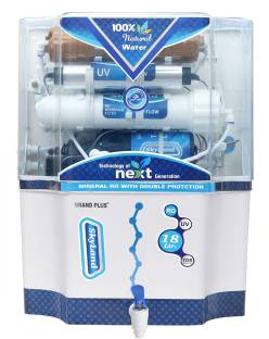 Grand plus Plus 14 Stage Sky copper RO+UV+UF & TDS Manager 18 L RO + UV + UF + TDS Water Purifier