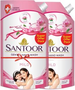 santoor Mild Hand Wash Pouch