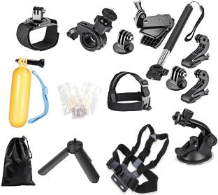 Yantralay 15 in 1 Accessories Kit for GoPro Hero, SJCAM Yi & Other Action Cameras Strap