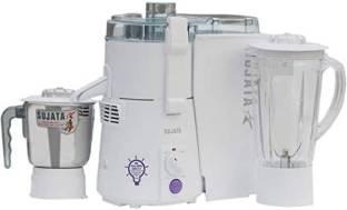 Sujata by SUJATA POWERMATIC PLUS POWEMATIC PLUS 900 Juicer Mixer Grinder (2 Jars, White)