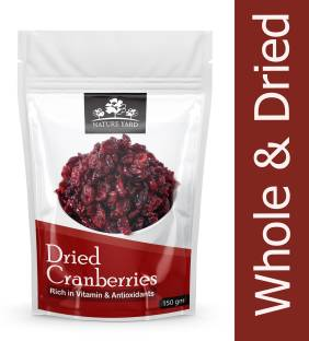 NATURE YARD Whole Dried Cranberry Cranberries - 150gm - natural, dehydrated Cranberries