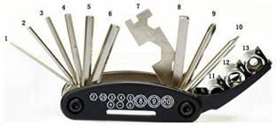 PARTHISHY TRADERS Bicycle Multi-Purpose Repair Toolkit Combination Screwdriver Set (Pack of 1) Combina...